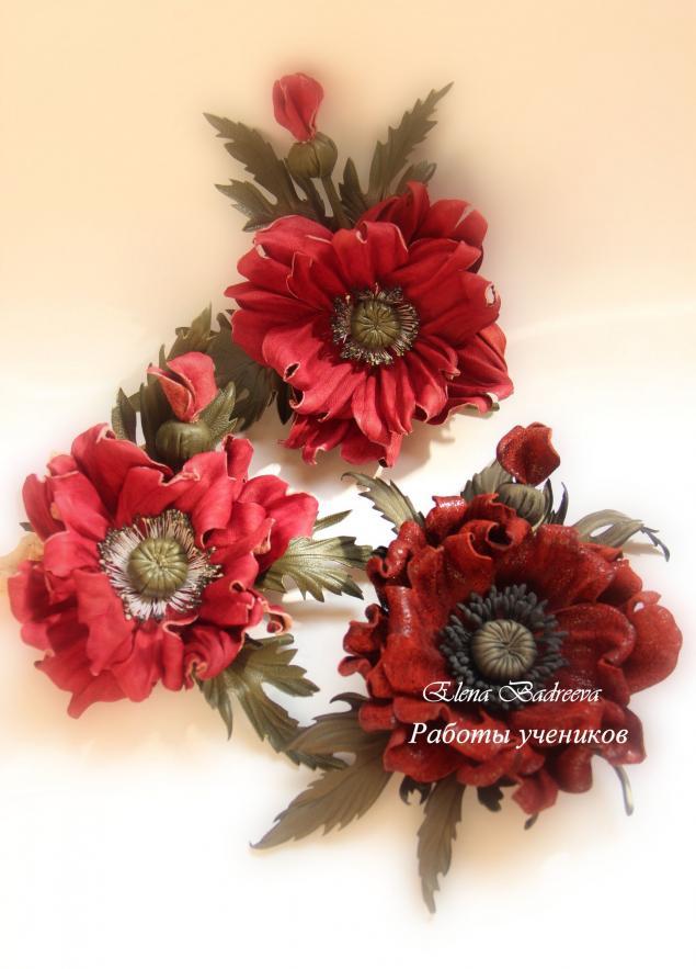 мастер-класс, обучение, кожаная флористика, цветы из кожи, брошь-цветок, авторское украшение