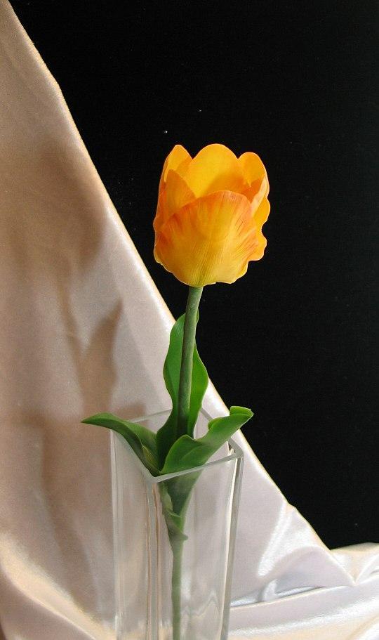 школа лепки, как слепить тюльпан