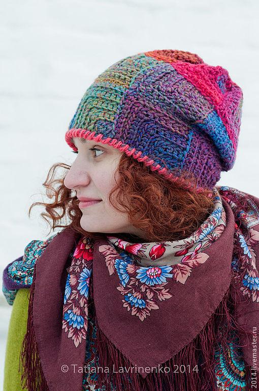 шапка, вязание крючком
