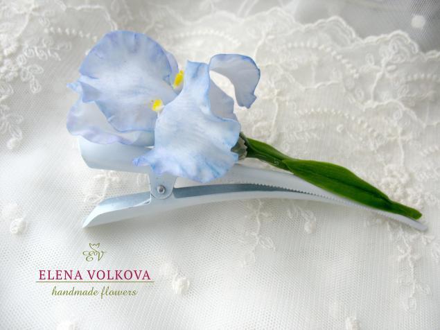 мастер-класс ирис, керамическая флористика, цветы полимерная глина