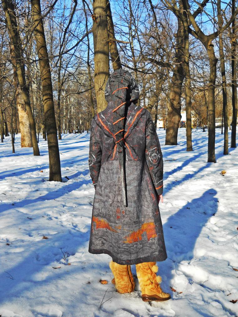 валяное пальто