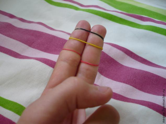 Сделать резинки браслет