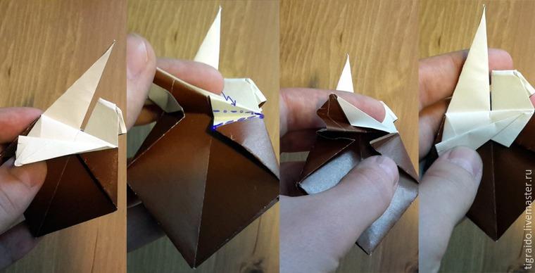 Оригами: пасхальная курочка, фото № 16