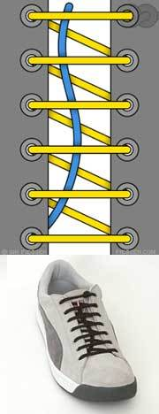 Оригинальные способы шнуровки ботинок. Виды и способы шнуровки., фото № 15