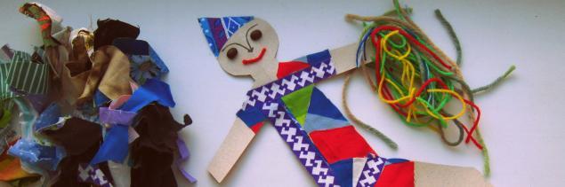 кукла, делаем сами, с детьми, детское творчество, кукла для игры, лоскут, аппликация, детская
