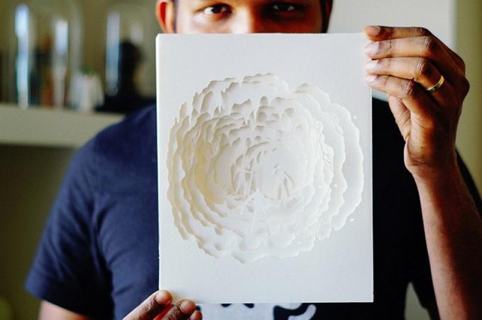 объемная картинка из бумаги наложением слоев место для отдыха
