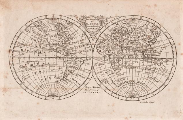 карта, антиквариат, гравюра