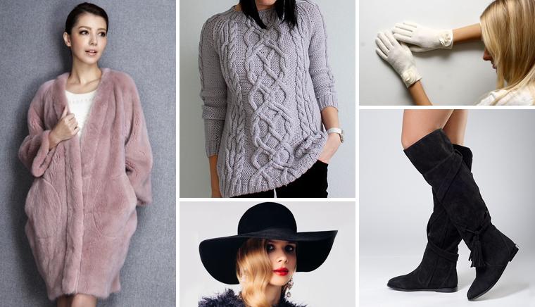 зимняя мода, зима 2014, зимняя обувь, шуба, зимнее пальто, вязаный свитер, зимняя шапка, зимний шарф