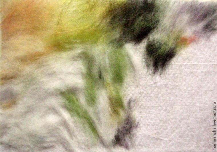 картины из сухой шерсти