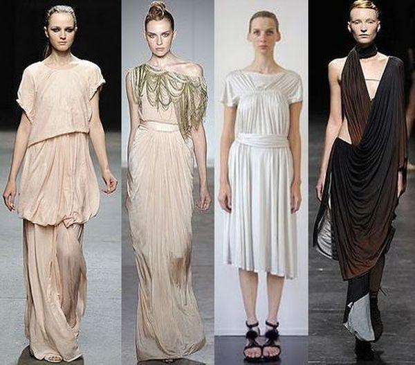 Древнегреческий стиль платья