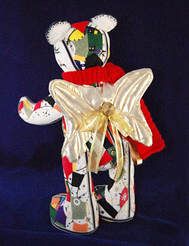 ангел, абстракция, текстильная игрушка