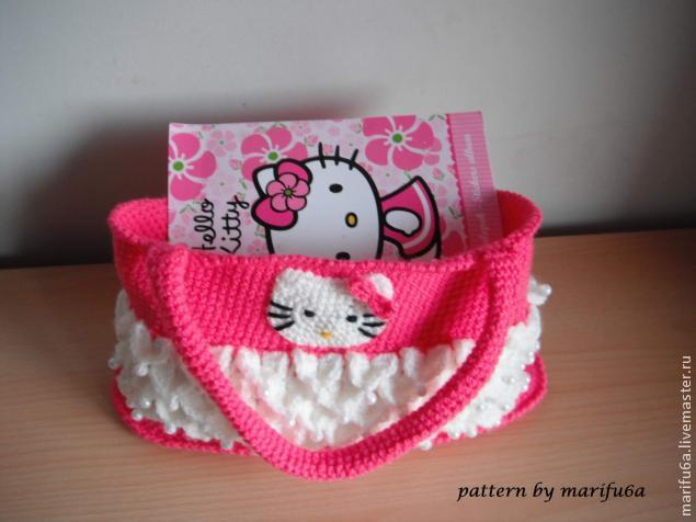 How To Crochet Hello Kitty Bag By Marifu6a Free Pattern Tutorial : ??? ??????? ??????? ??????? (????? ??????????? ...