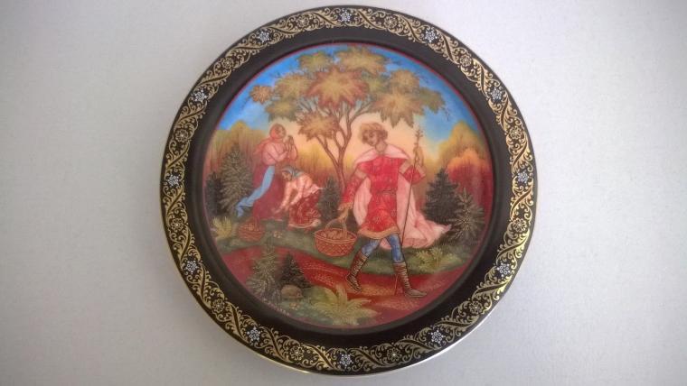 декоративная тарелка, нумерация, bradford exchange