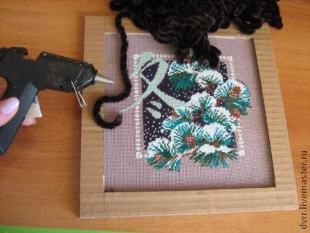 Как сделать рамку для вышитой картины своими руками в домашних условиях 105
