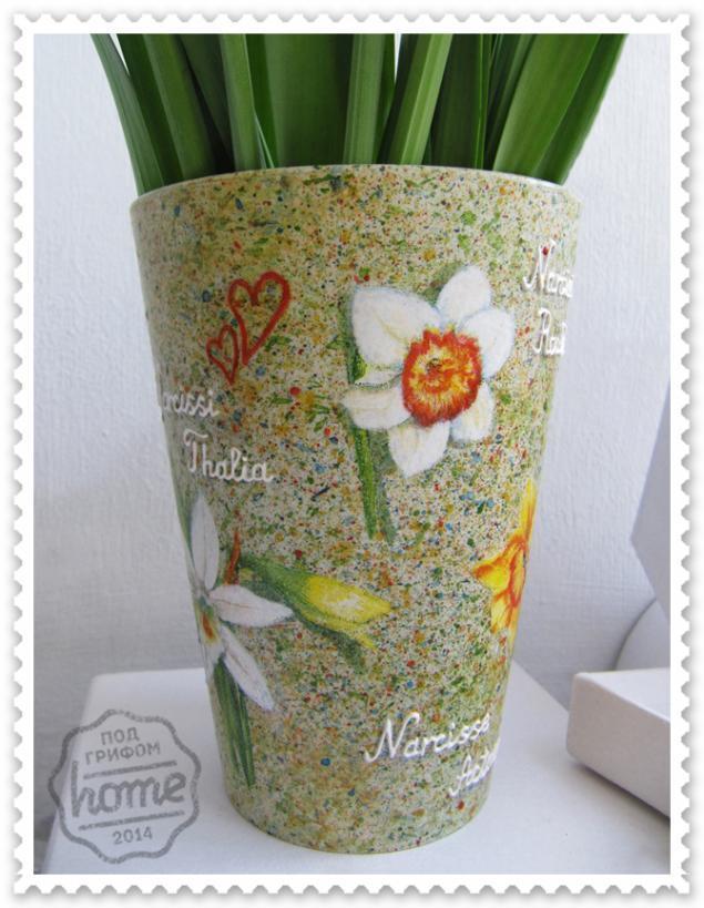 весенние цветы, ваза для цветов