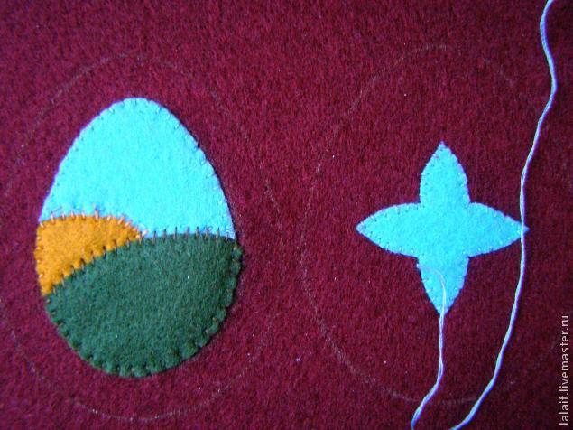 пасхальный сувенир, авторская вышивка