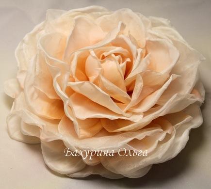 брошь, обучение цветоделию, цветы из шелка