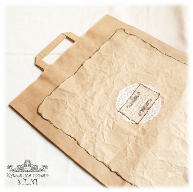 Мастер класс пакет из крафт бумаги 184