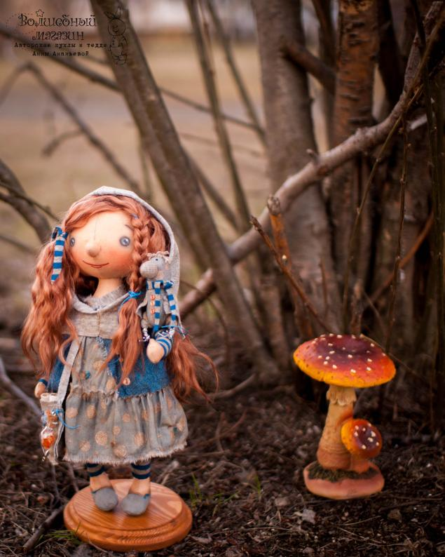 кукла ручной работы, лес