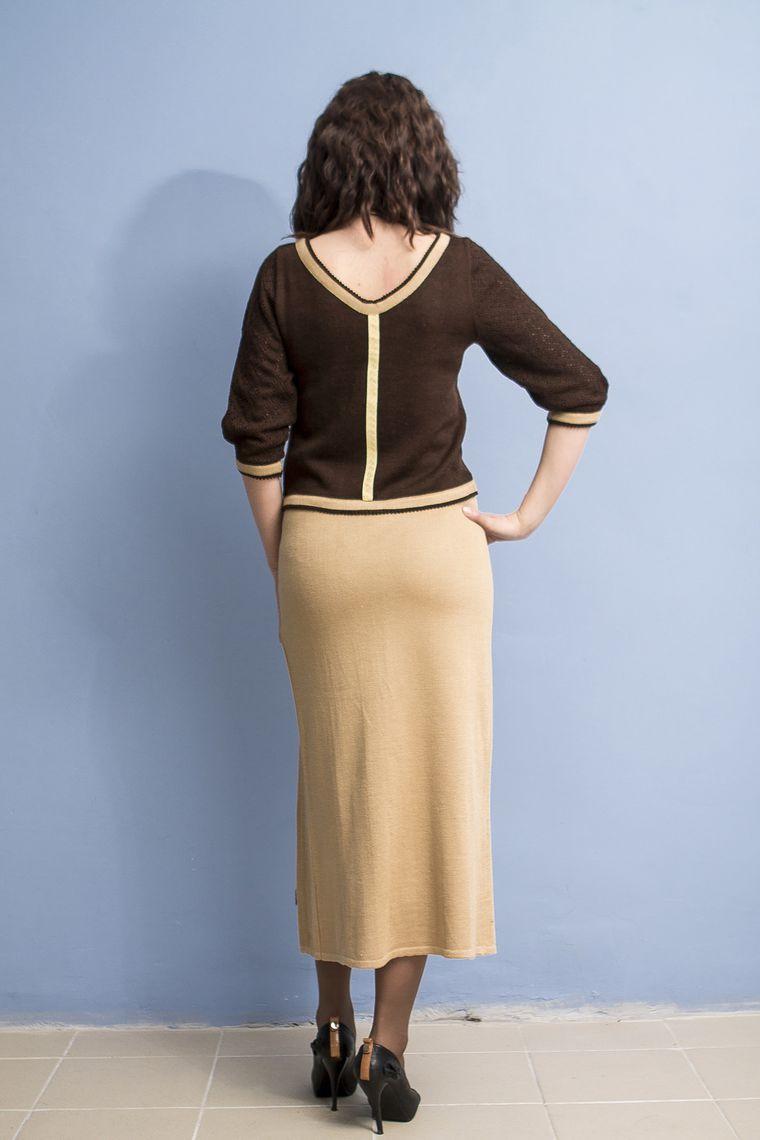 аукцион сегодня, бежевый костюм, костюм коричневый, вязаная одежда, вязаное платье, вязание спицами, скидки на готовые работы, распродажа, распродажа одежды