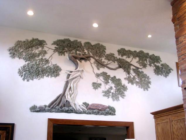 Как сделать объёмное дерево на стене своими руками