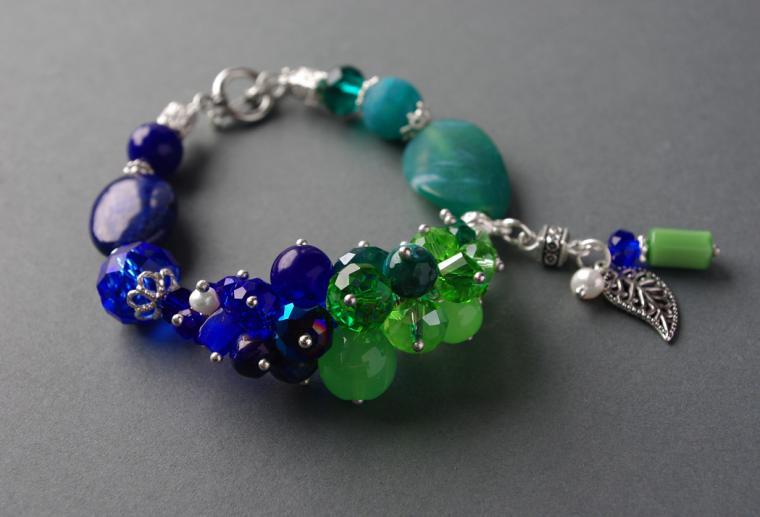 конкурс коллекций, призы, сине-зеленый браслет