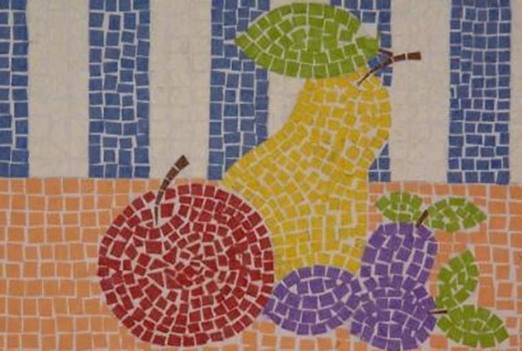 Мозаика из цветной бумаги