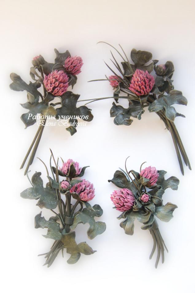 обучение цветоделию, кожаная флористика, авторские украшения, цветок из кожи