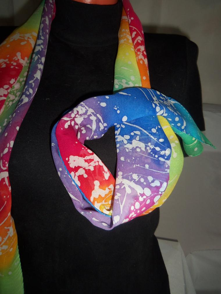 шарф, натуральный шёлк, одежда для женщин