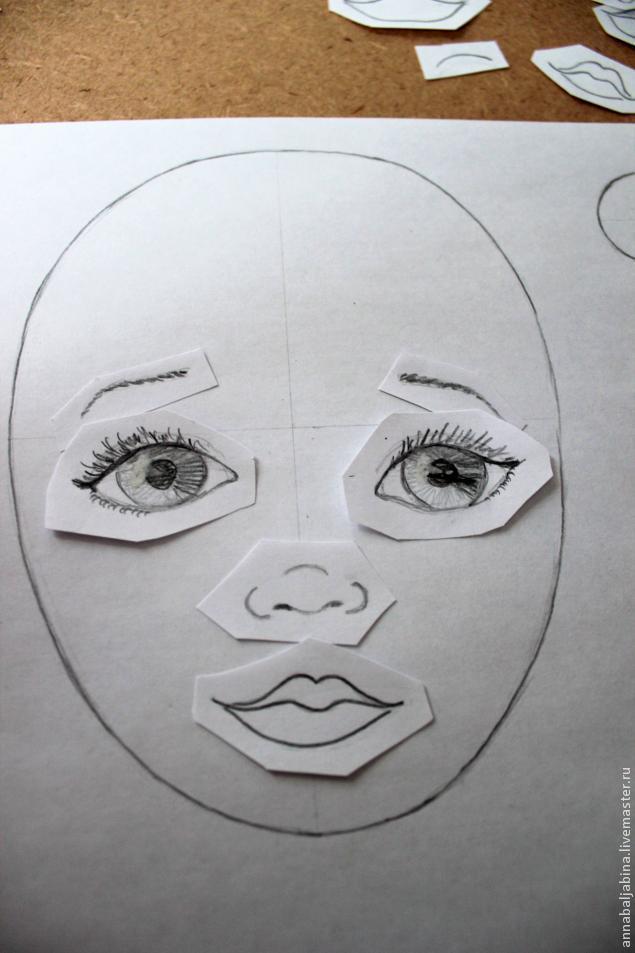 Нарисованное лицо вниз