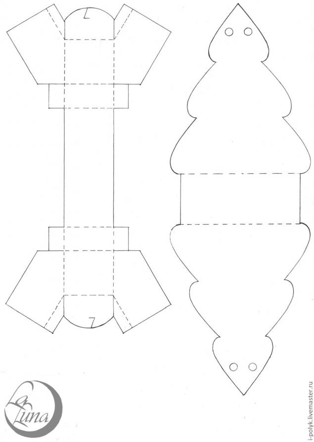 Ёлочки своими руками из бумаги или картона