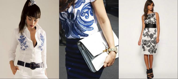 Схемы модных вышивок для платьев и блузок