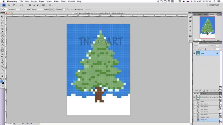 Вышивка как сделать схему на фотошопе