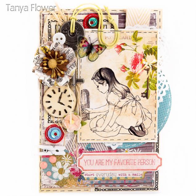 tanya flower, алиса в стране чудес, открытка ручной работы, публикация