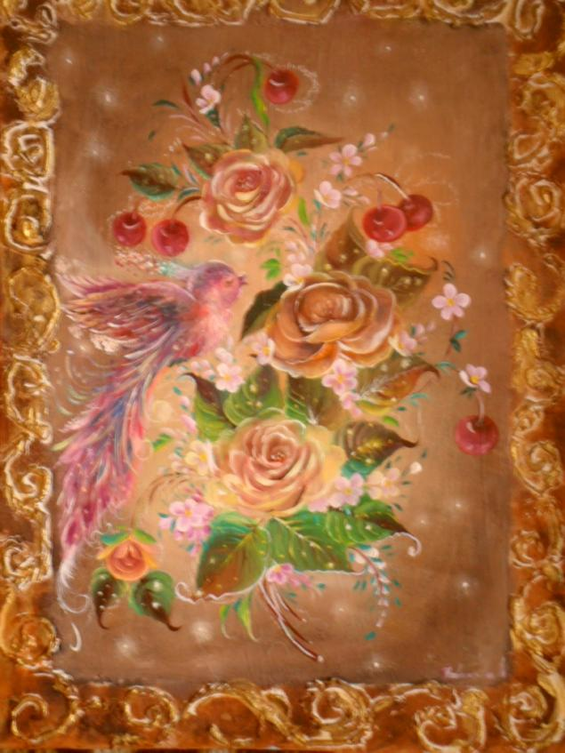 картина сказка, красота, цветы