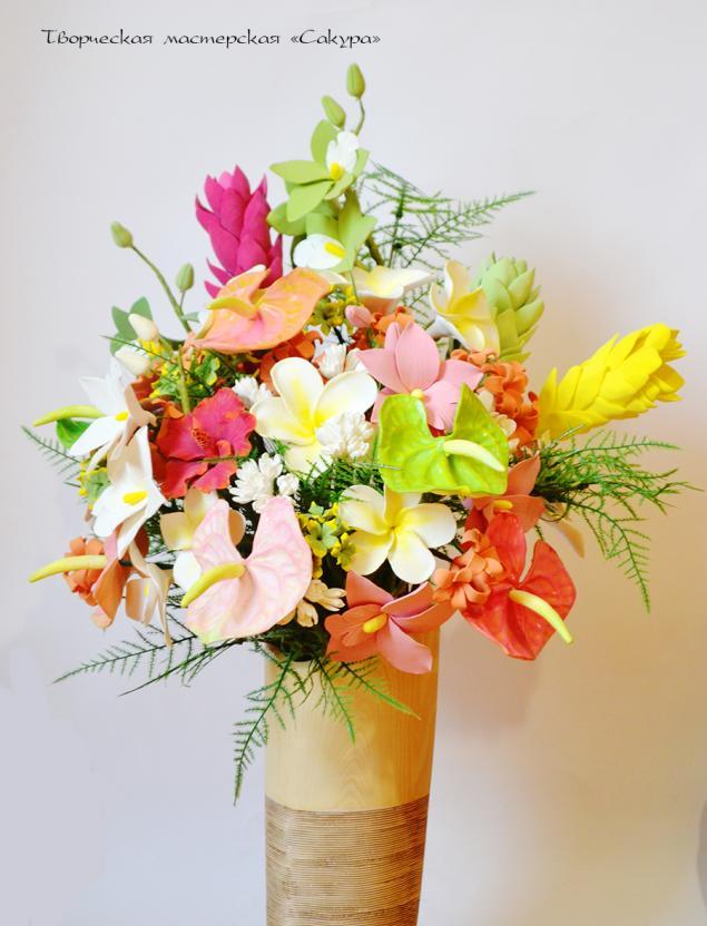 полимерная глина, ваза