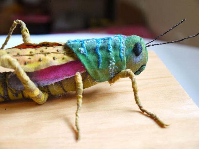 Дивные текстильные насекомые от мастера Yumi Okita, фото № 3