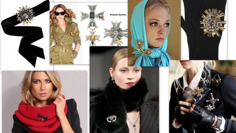 Броши как носить модно