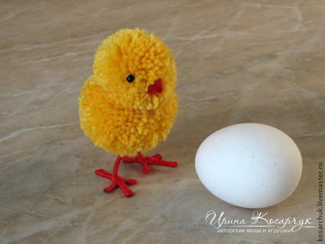 Мастер-класс: Пасхальные цыплята из помпонов – Ярмарка Мастеров