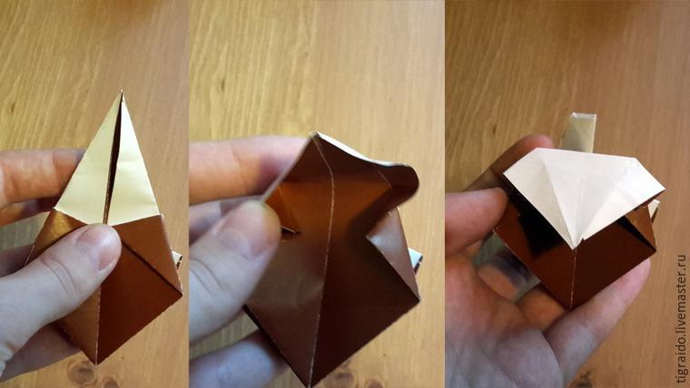 Оригами: пасхальная курочка, фото № 17