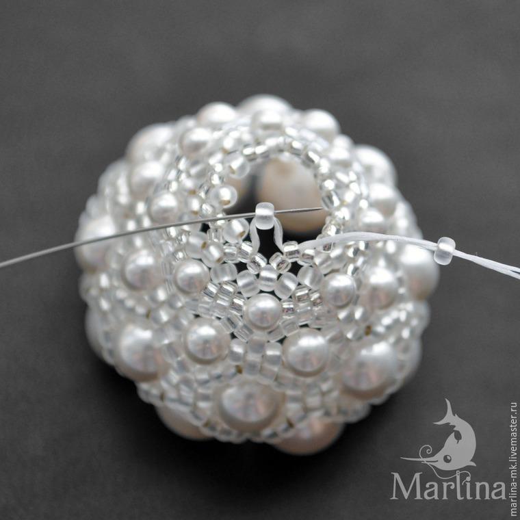 Jellyfish Pendant DIY with Pearls and Swarovski Crystals, фото № 25
