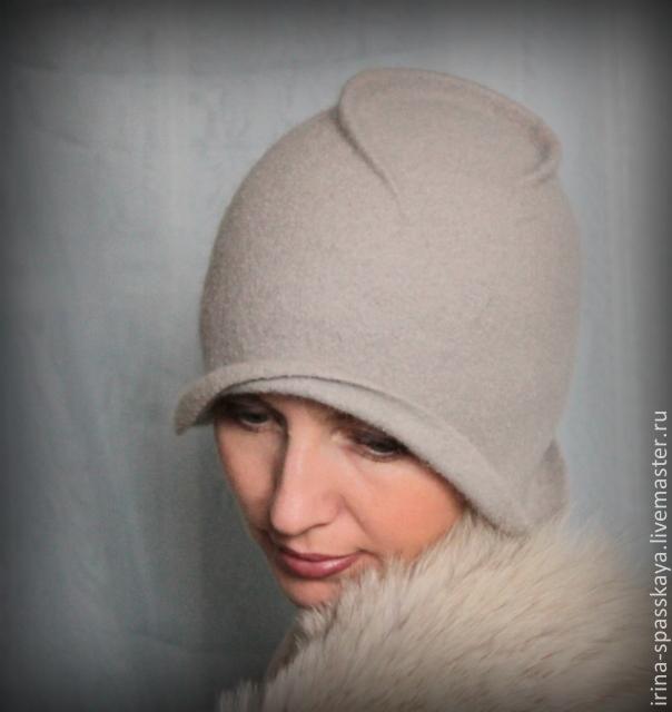 шляпка из войлока