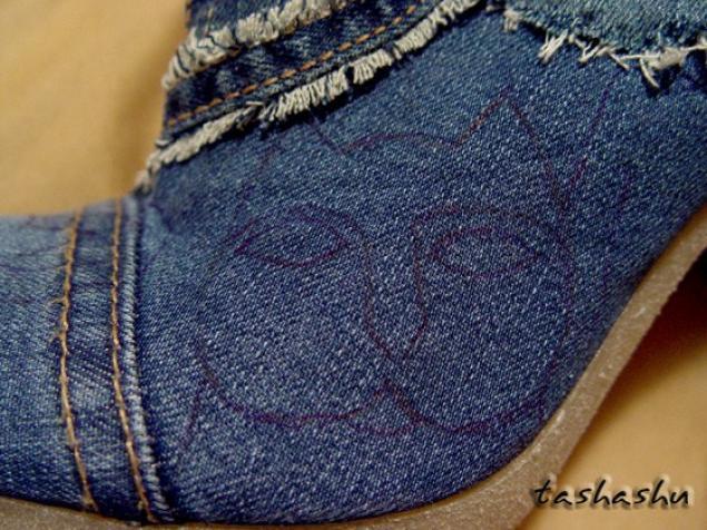 旧牛仔裤还能干什么?32  靴子(大师班) - maomao - 我随心动