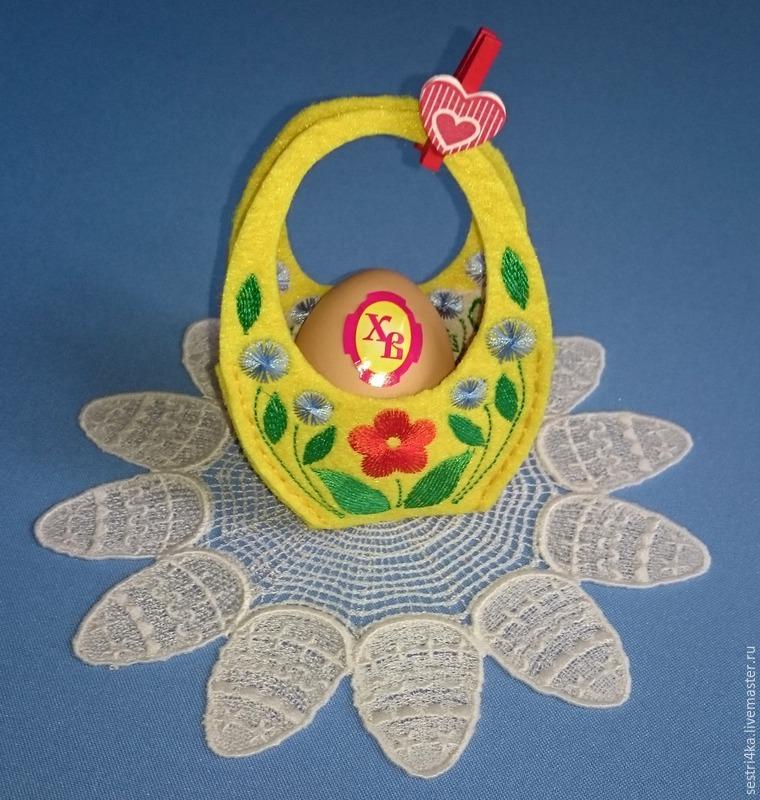 Делаем корзиночку для пасхального яйца из фетра, фото № 18