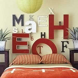 Мысли на виду! (или 60 идей декора стен с помощью слов, букв и цифр), фото № 26