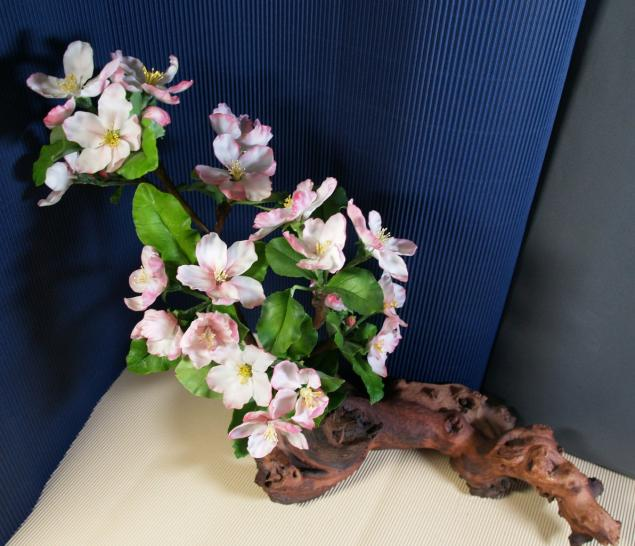 лепка цветов, холодный фарфор