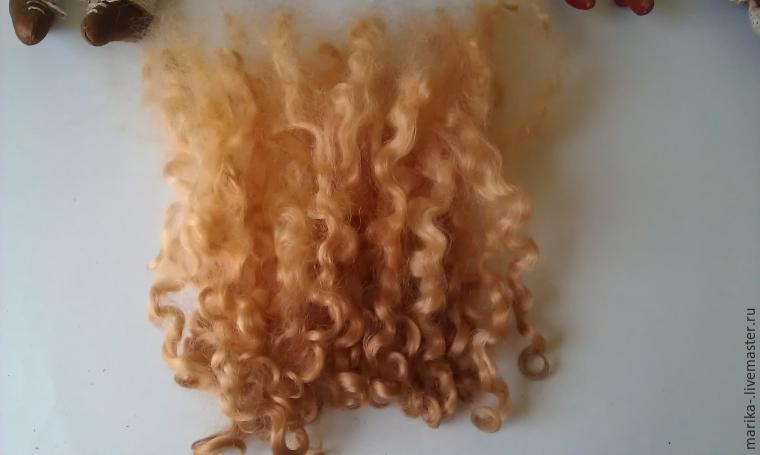 Волосы для куклы из шерсти для валяния