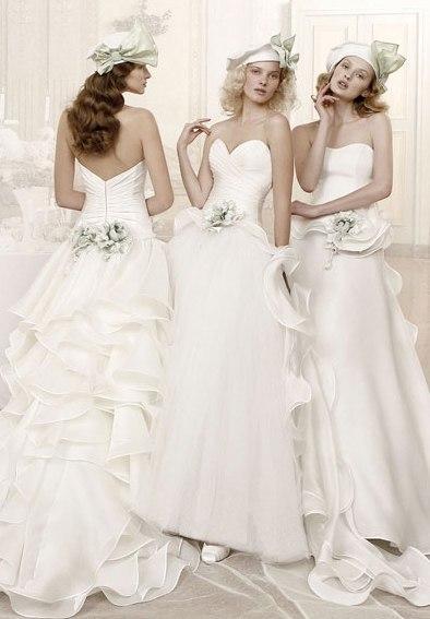 Необыкновенные свадебные платья.Цветы в моде от дизайнеров., фото № 7