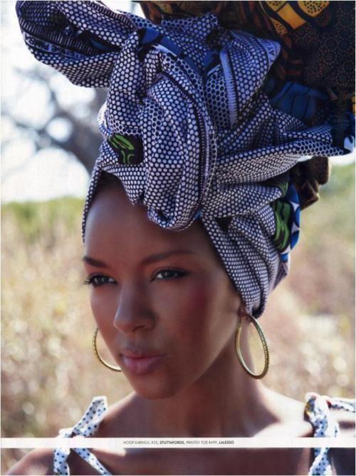 African hair wrap..