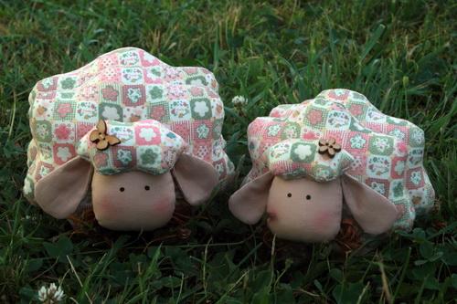 овца, текстильная игрушка